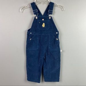 Classic Winnie the Pooh Blue Corduroy Overalls 18M